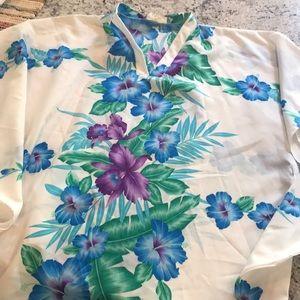 Tops - Vintage floral tunic caftan
